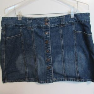 Route 66 Denim mini skirt
